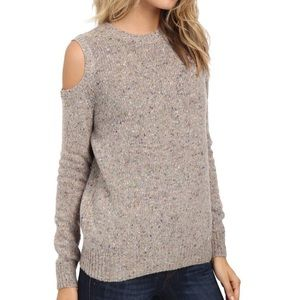 | nwot • confetti wool cold shoulder sweater |